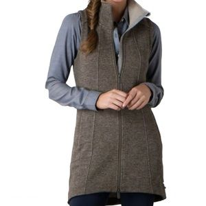 Toad&Co Outbound Travel Long Vest Falcon Brown S